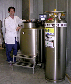Dr. Steve Keir with new research equipment